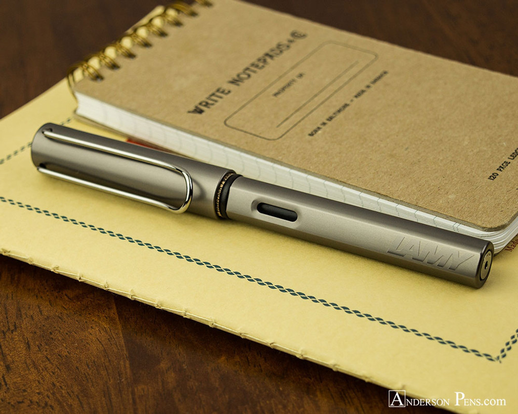 Lamy LX Fountain Pen - Ruthenium - On Notebook