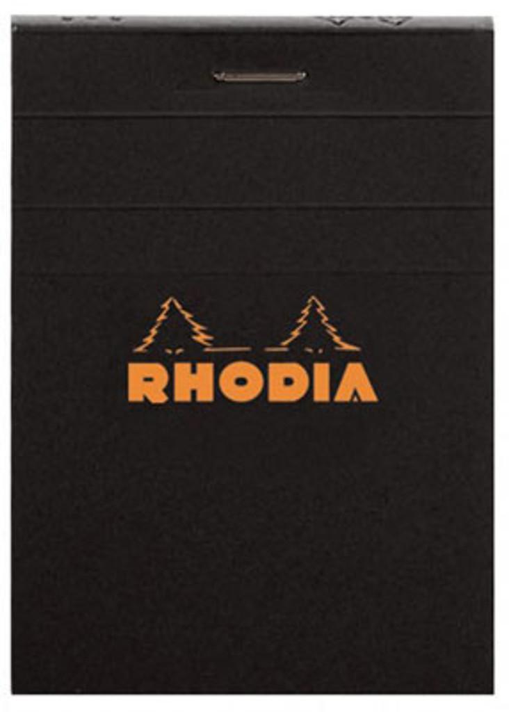 Rhodia No. 12 Staplebound Notepad - 3.375 x 4.75, Graph - Black