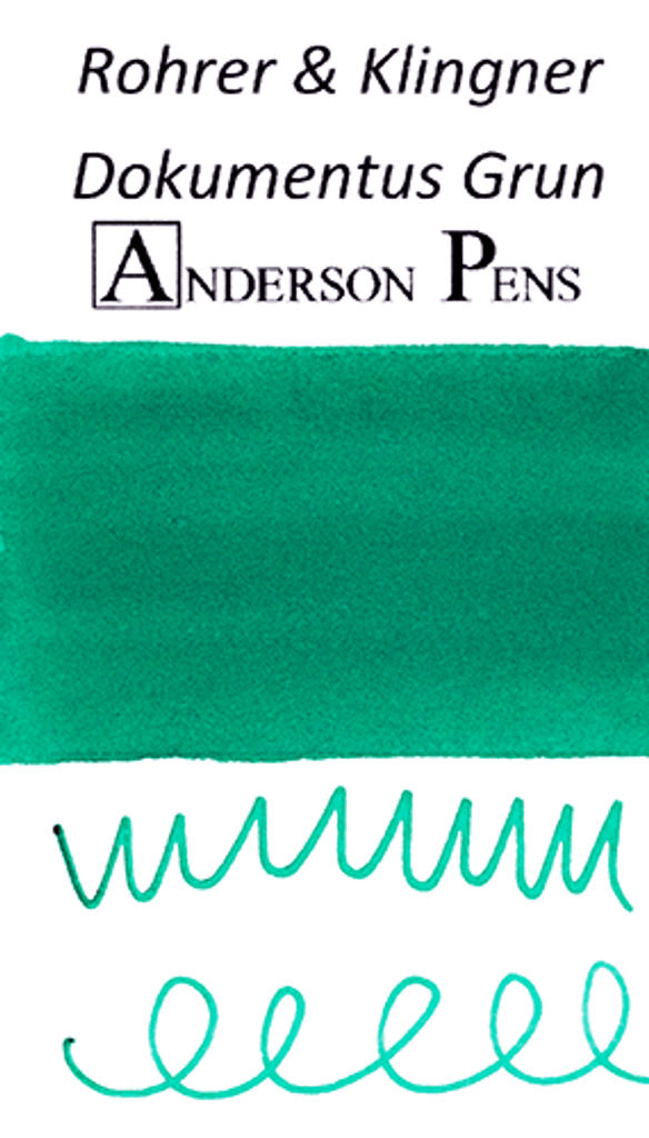 Rohrer & Klingner Dokumentus Grun Ink Sample (3ml Vial)