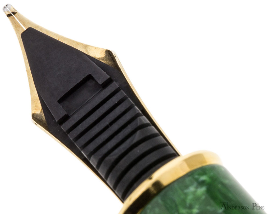 Platinum 3776 Celluloid Fountain Pen - Jade - Feed