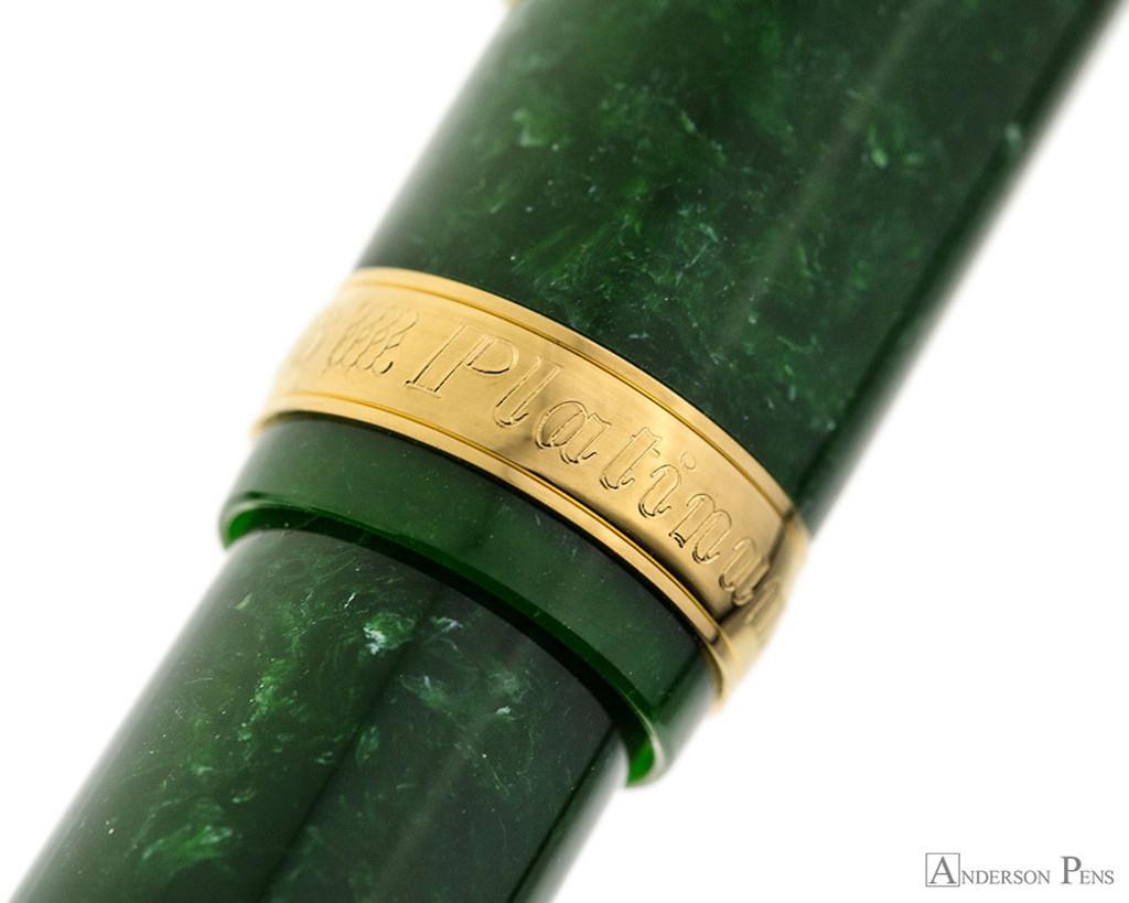 Platinum 3776 Celluloid Fountain Pen - Jade - Cap Band 2
