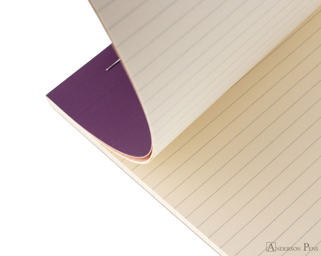 Rhodia No. 18 Premium Notepad - A4, Lined - Purple open
