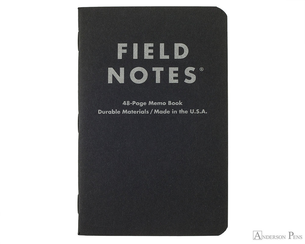 Field Notes Notebooks - Pitch Black, Dot Grid (3 Pack)