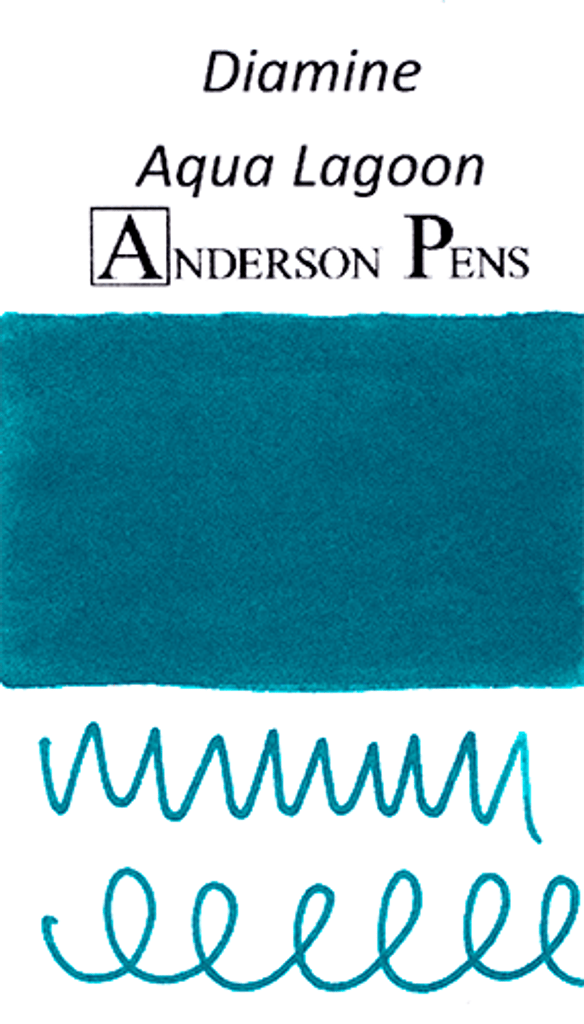 Diamine Aqua Lagoon Ink Color Swab