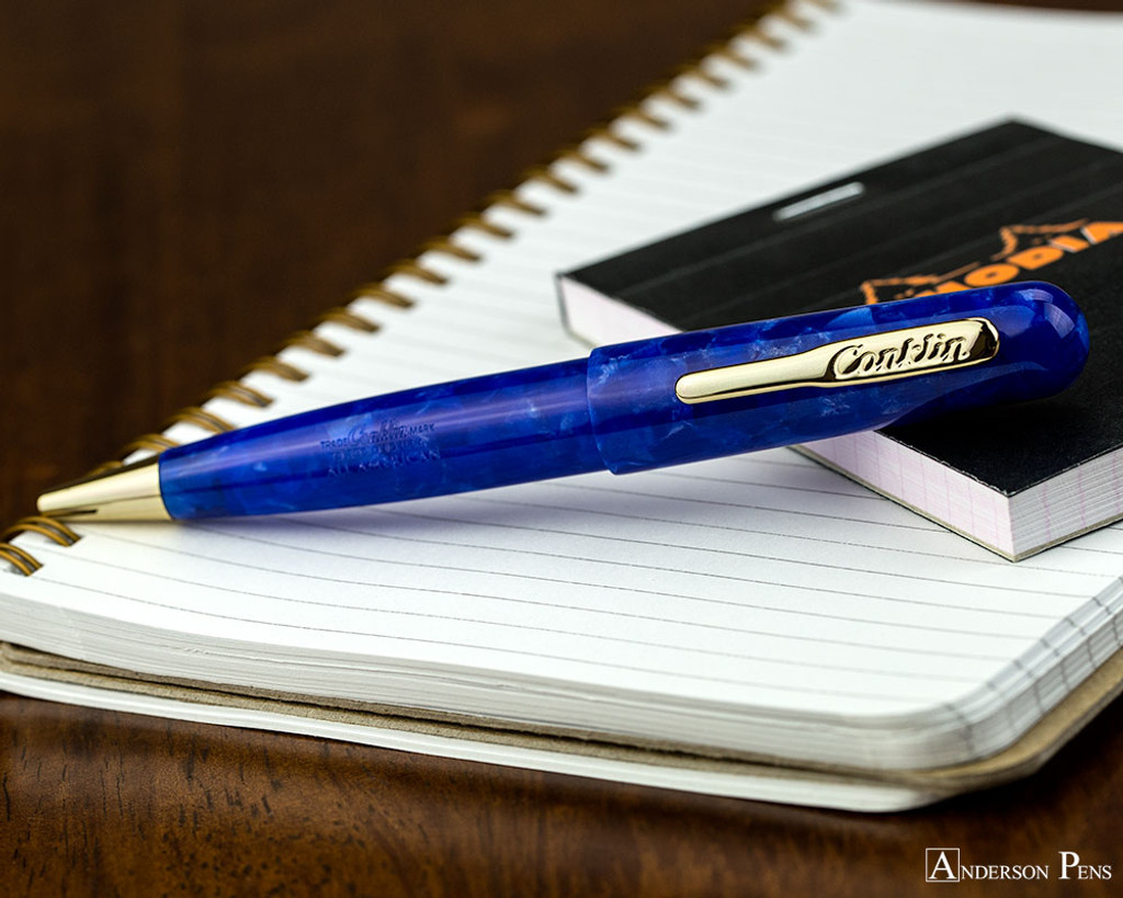 Conklin All American Ballpoint - Lapis Blue - On Notebook