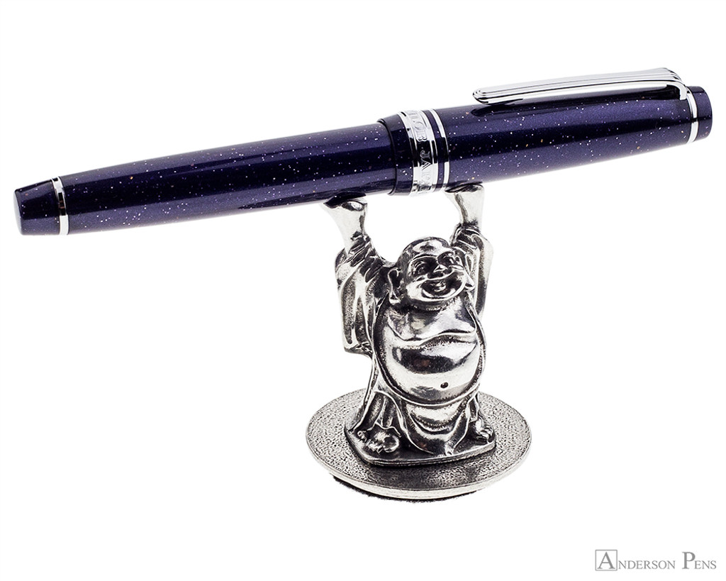 Jac Zagoory Mini Happy Buddha Pewter Pen Holder - Holding Pen