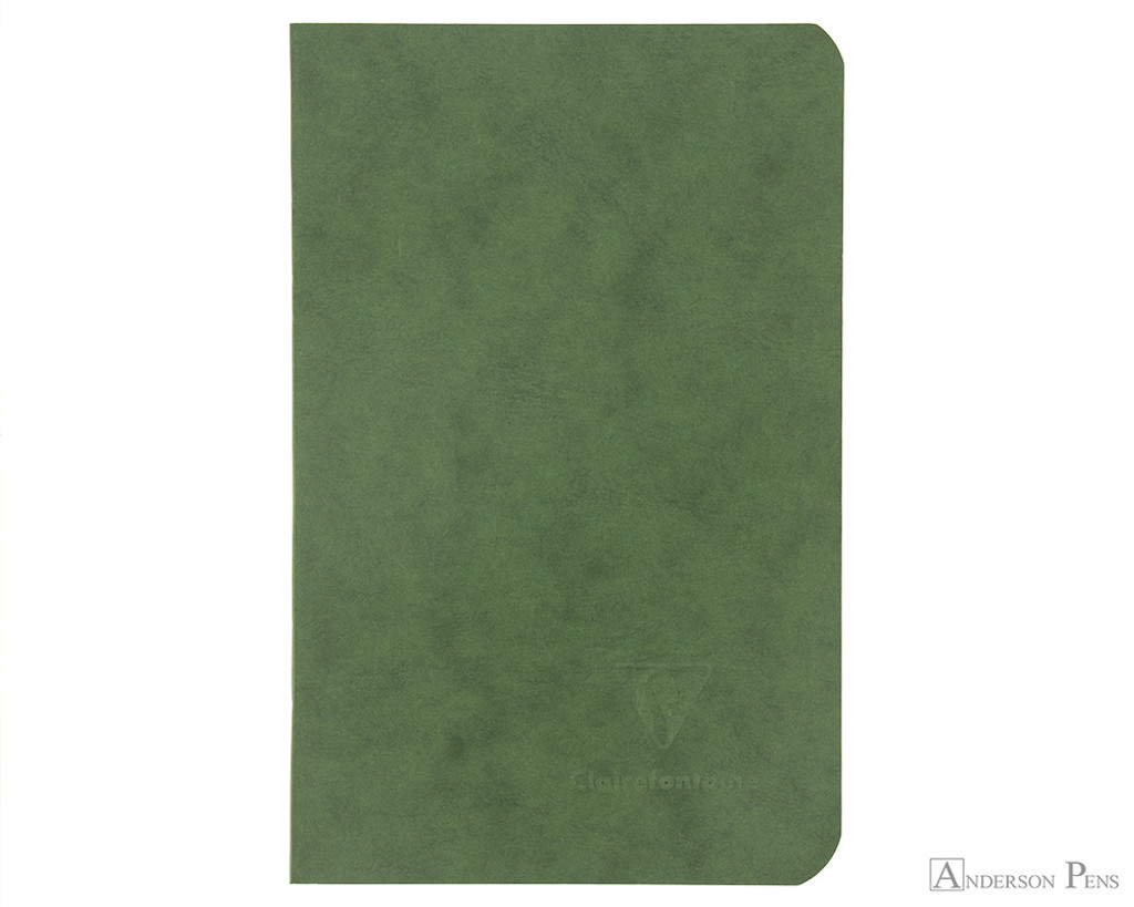 Clairefontaine Basic Staplebound Duo - 3.5 x 5.5, Lined Paper - Green - Cover