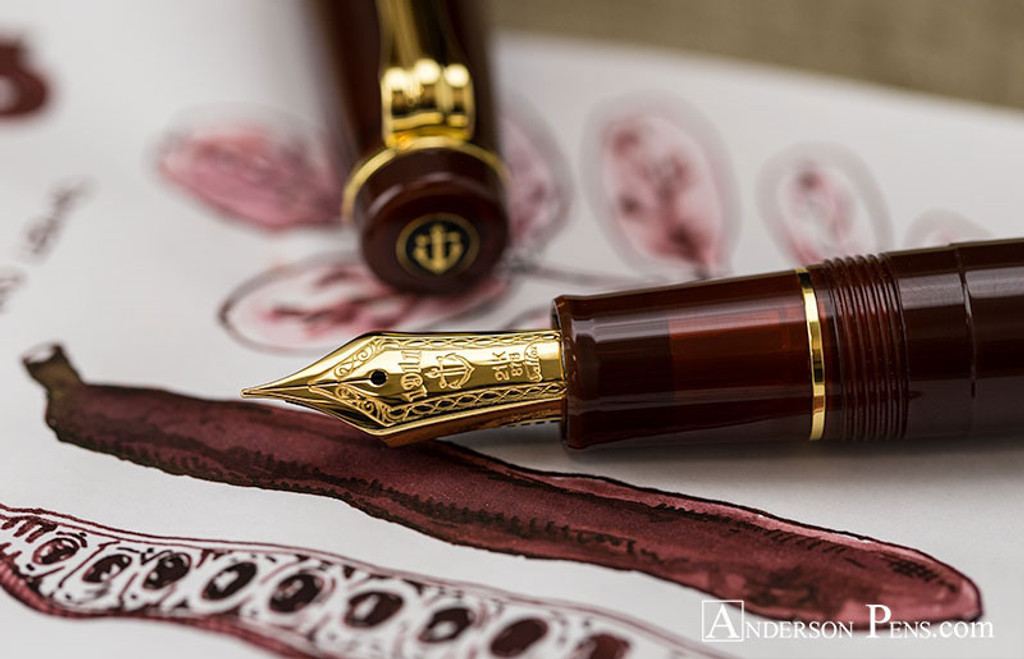 J. Herbin 1670 Anniversary Caroube de Chypre Ink Sample ThINK Thursday pen and ink closeup