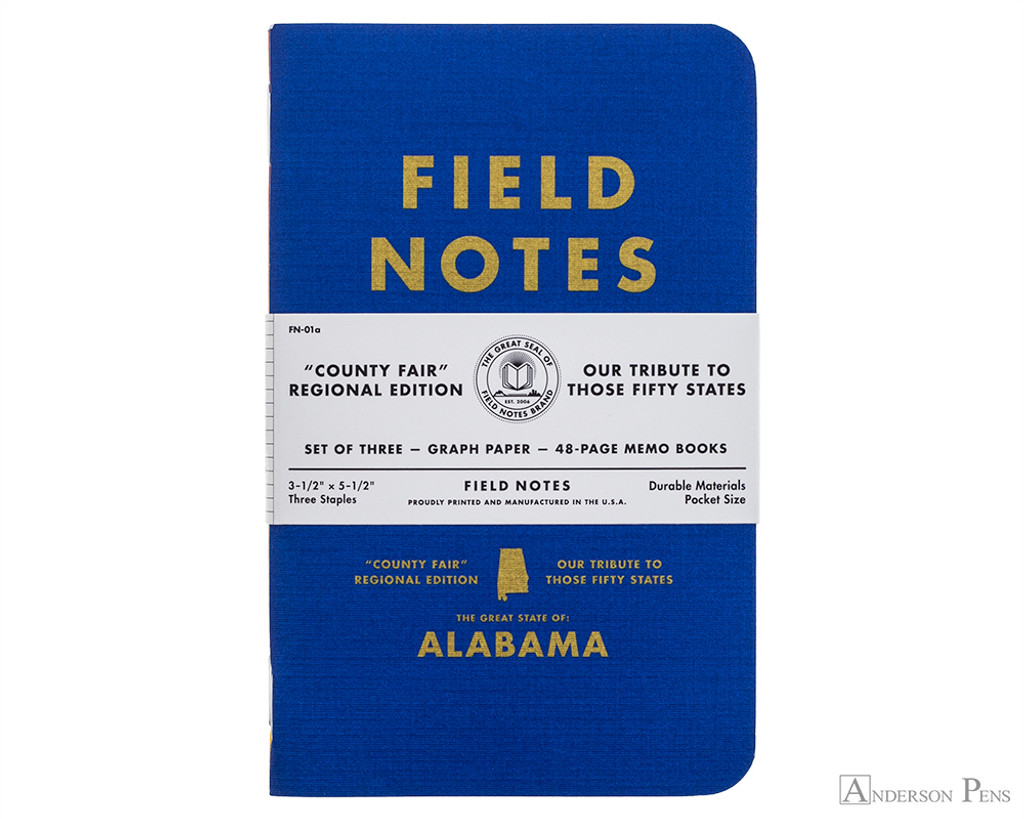Field Notes Notebooks - County Fair, Alabama (3 Pack)