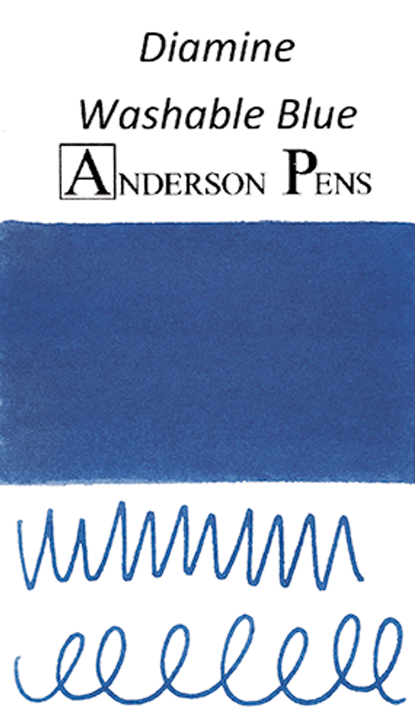 Diamine Washable Blue Ink Color Swab