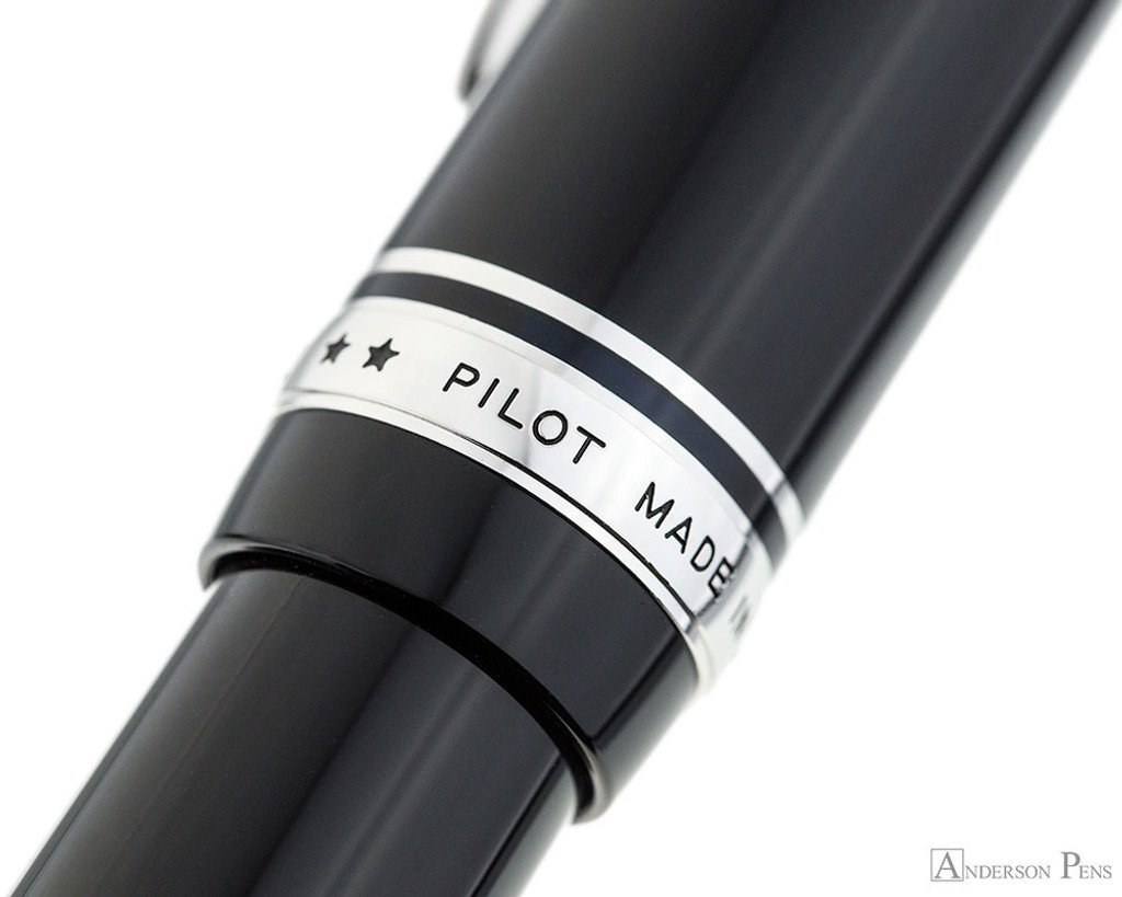 Pilot Custom 912 Fountain Pen - Black, Music Nib - Cap Band 2
