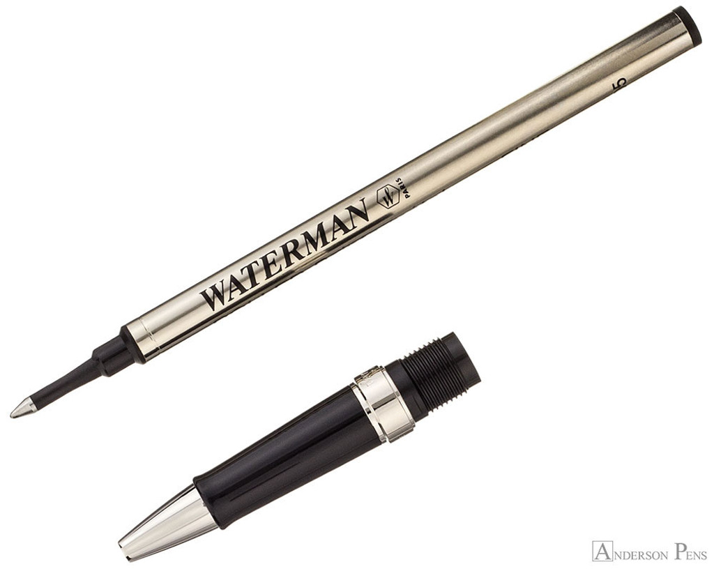 Waterman Hemisphere Rollerball - Stainless Steel - Section and Refill