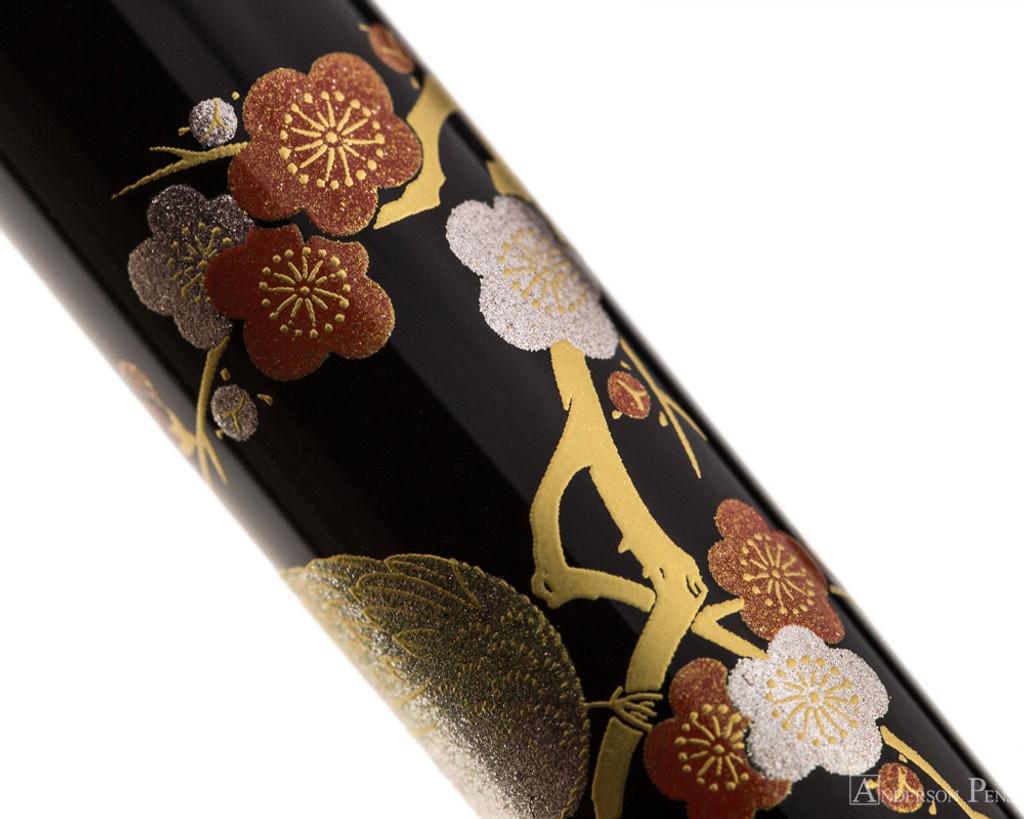 Platinum Classic Maki-e Fountain Pen - Bush Warbler - Closeup 3