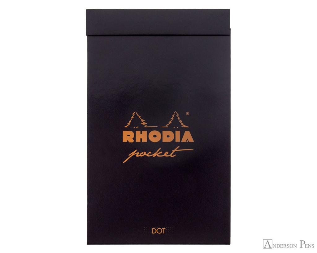 Rhodia Pocket Notepad - 3 x 4.75, Dot Grid - Black