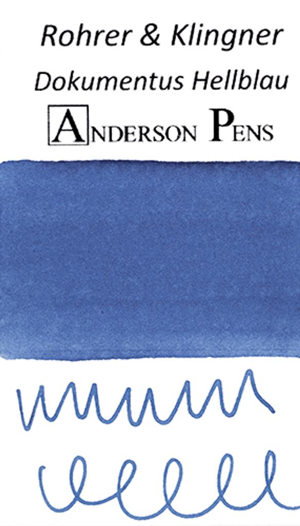 Rohrer & Klingner Dokumentus Hellblau Ink Color Swab