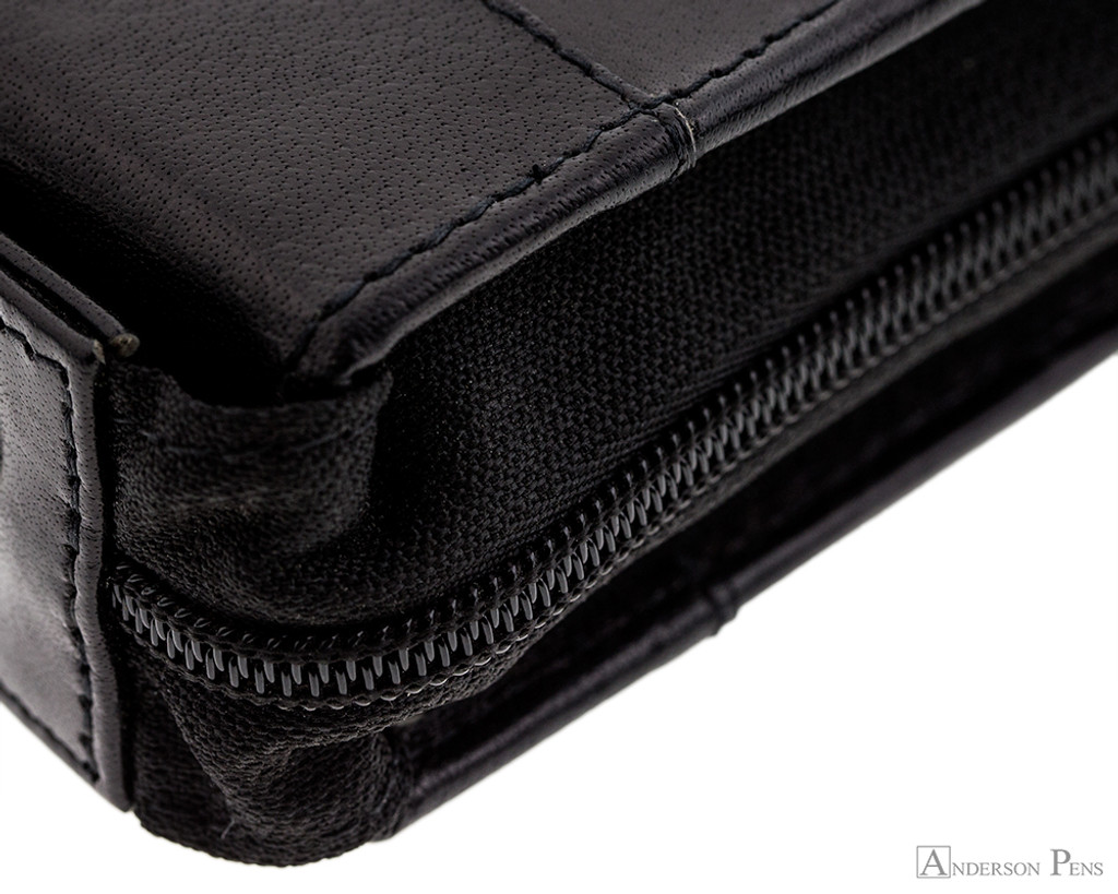 Girologio 24 Pen Case - Black Leather