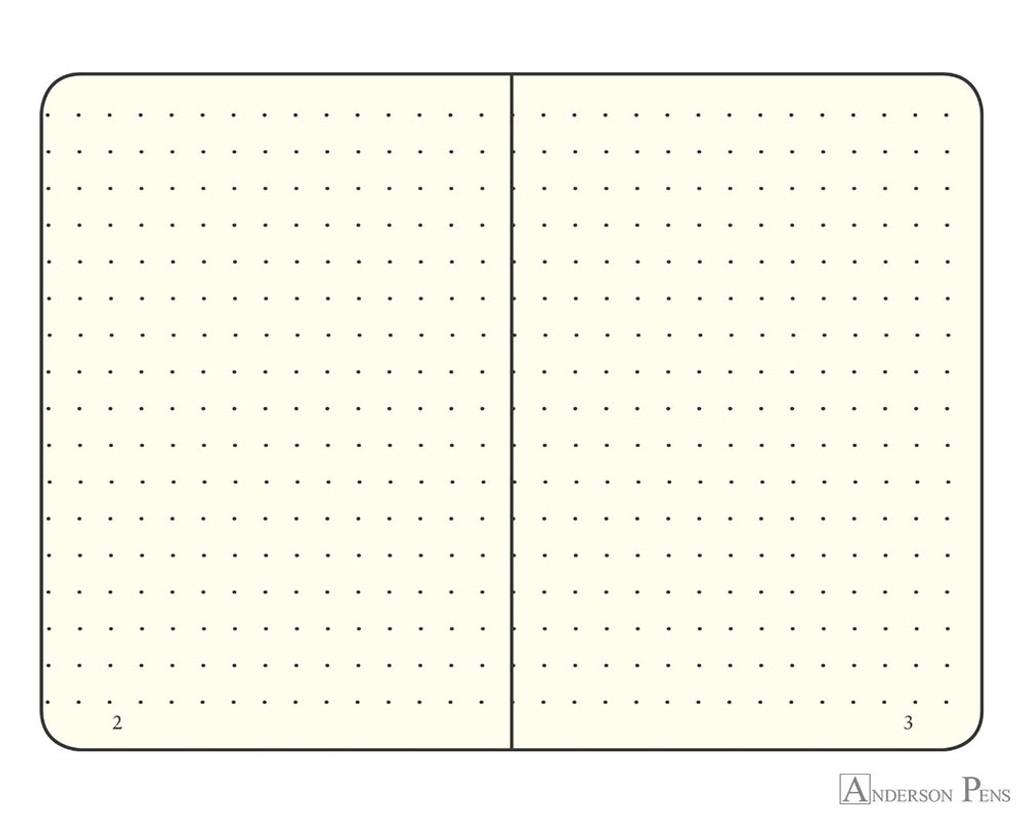 Leuchtturm1917 Notebook - A6, Dot Grid - Red open