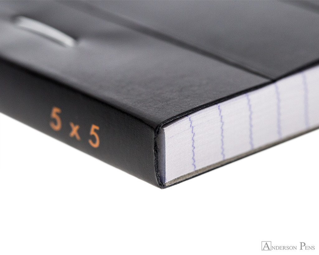 Rhodia No. 16 Staplebound Notepad - A5, Graph - Black binding detail