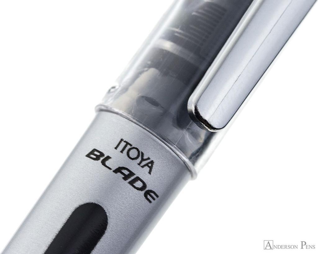 Itoya Blade Fountain Pen - Black - Imprint