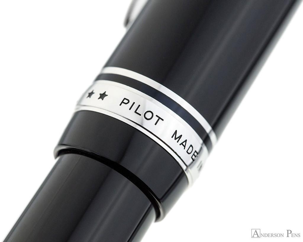 Pilot Custom 912 Fountain Pen - Black, Soft Fine Nib - Cap Band 2