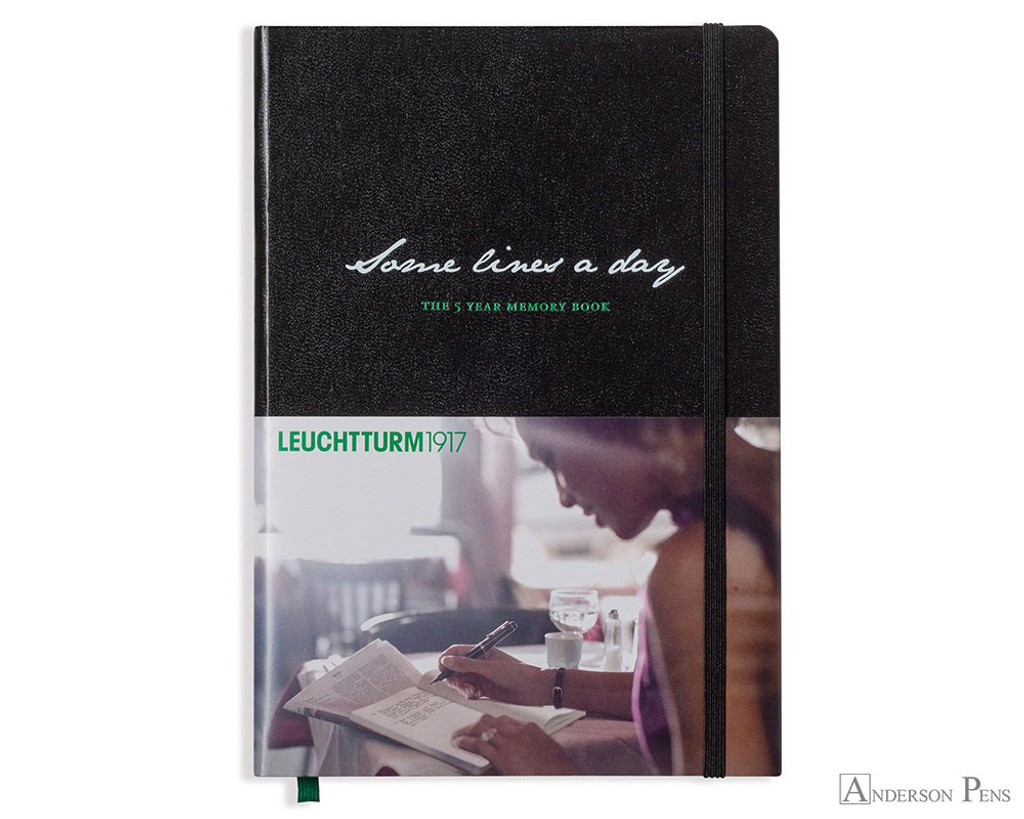 Leuchtturm1917 Some Lines A Day Memory Book - A5, Lined - Black