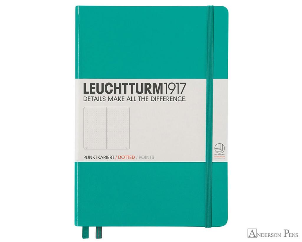 Leuchtturm1917 Notebook - A5, Dot Grid - Emerald