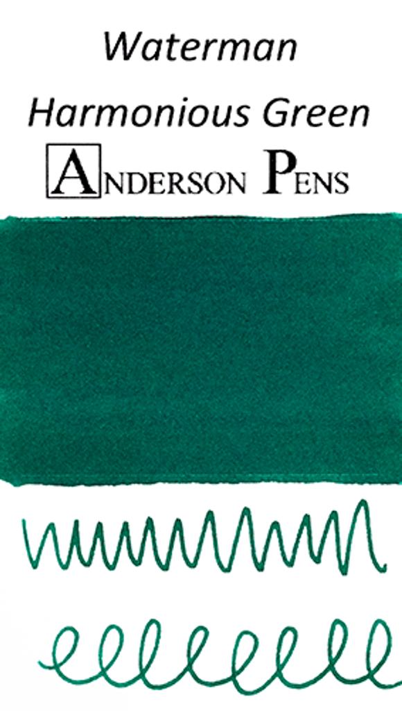 Waterman Harmonious Green Ink Color Swab