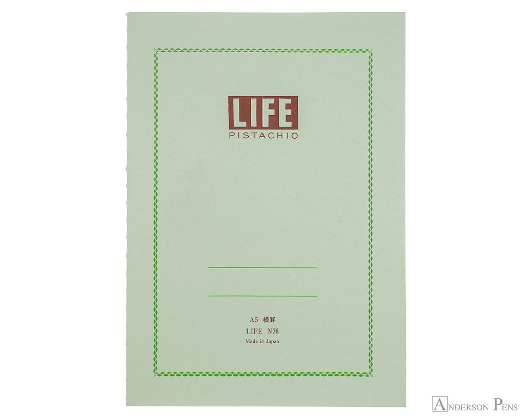 Life Pistachio Notebook - A5 (6 x 8), Lined Paper