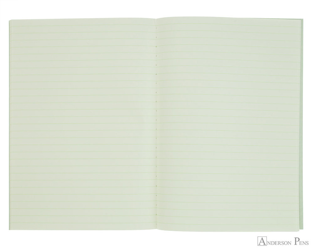 Life Pistachio Notebook - A5 (6 x 8), Lined Paper - Open