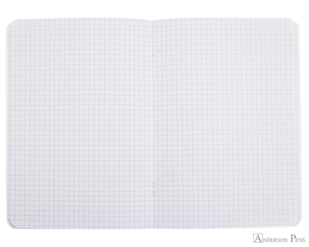 Rhodia Staplebound Notebook - A5, Graph - Ice White open