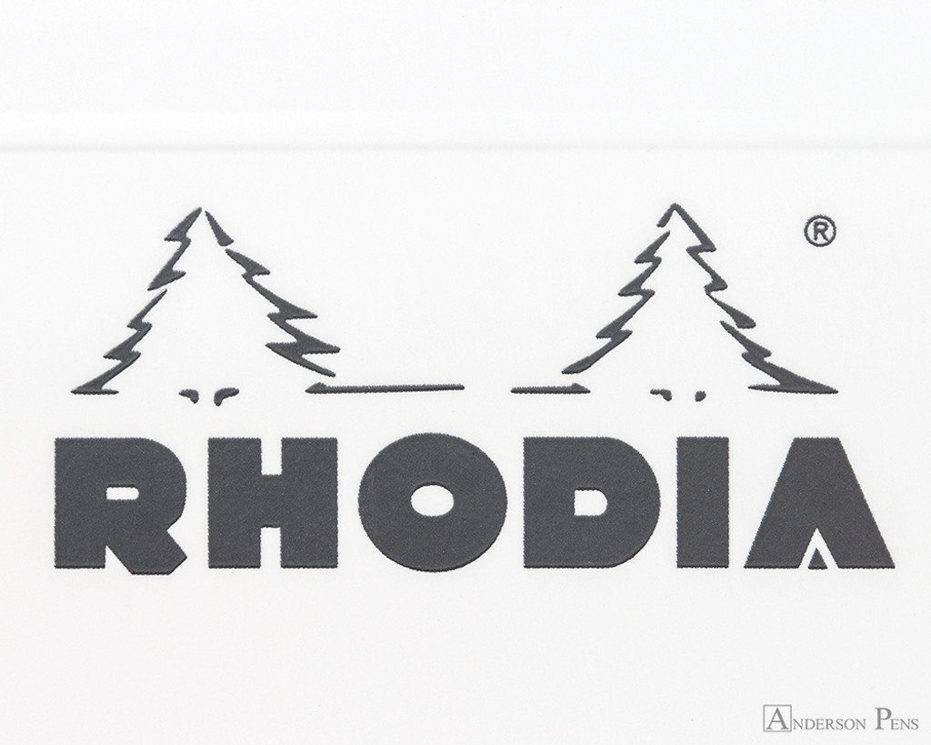Rhodia Staplebound Notebook - A5, Graph - Ice White logo