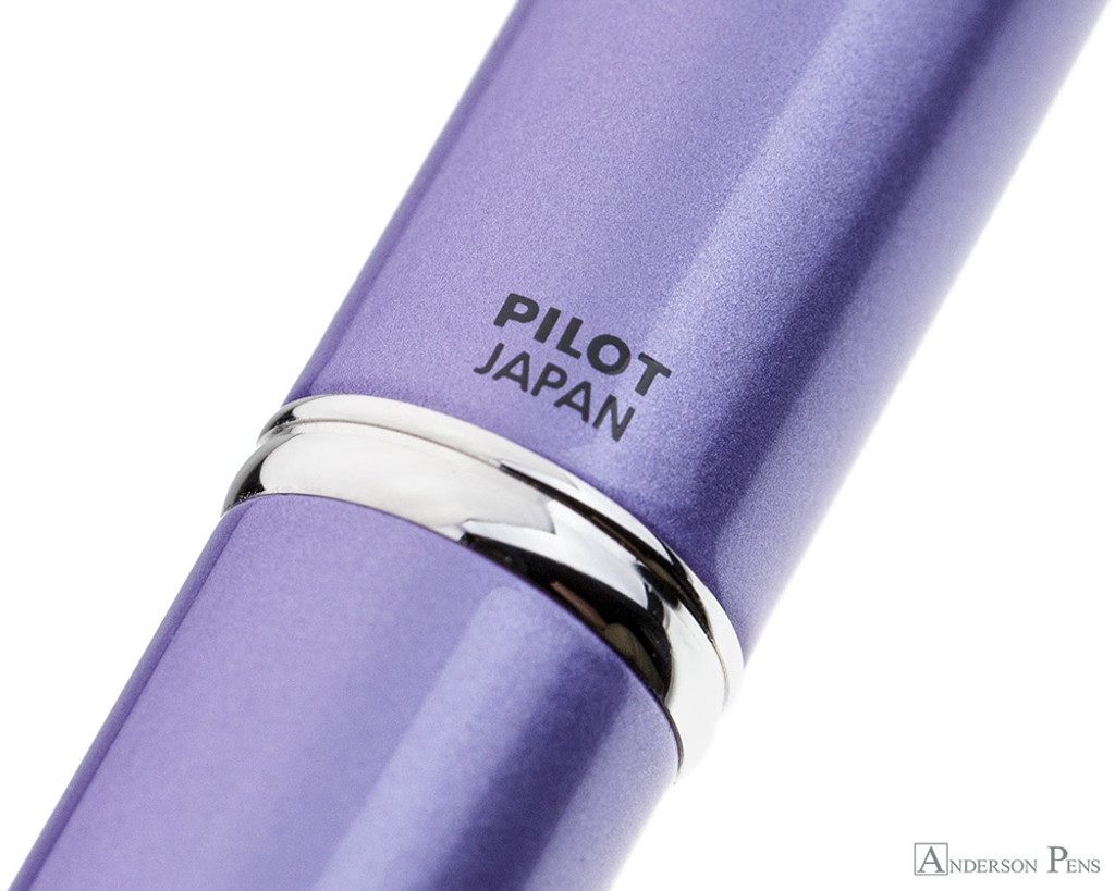 Pilot Vanishing Point Decimo Fountain Pen - Purple - Imprint
