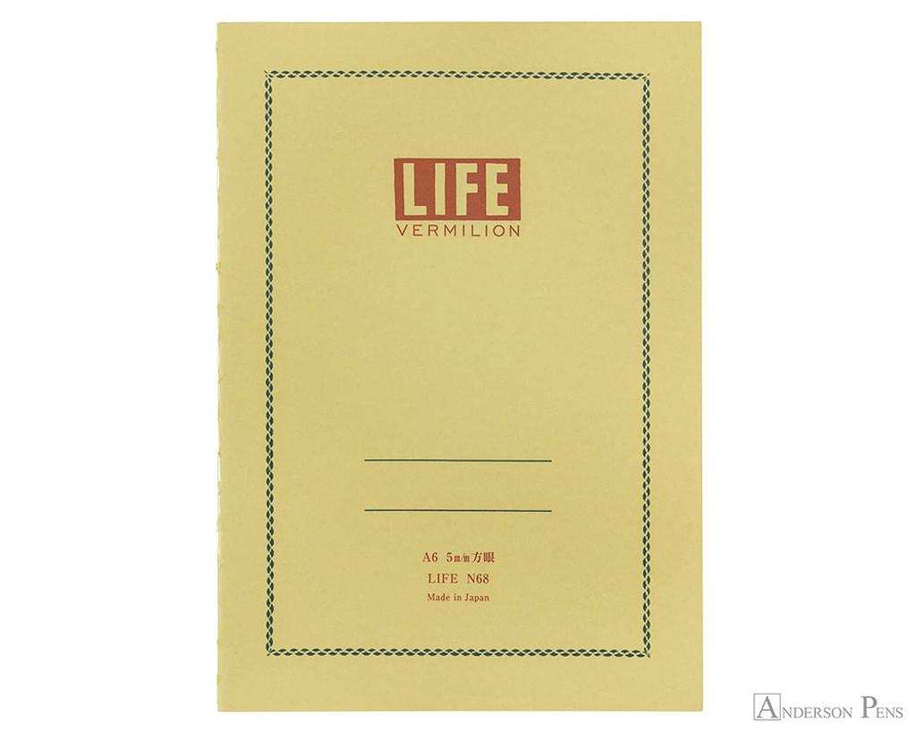Life Vermilion Notebook - A6 (4 x 6), Graph Paper
