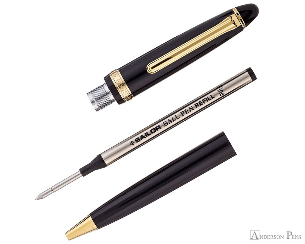Sailor 1911 Standard Ballpoint - Black with Gold Trim