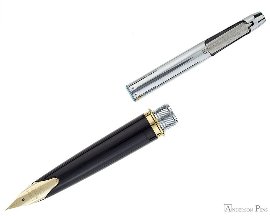 Pilot E95S Fountain Pen - Black - Section and Converter