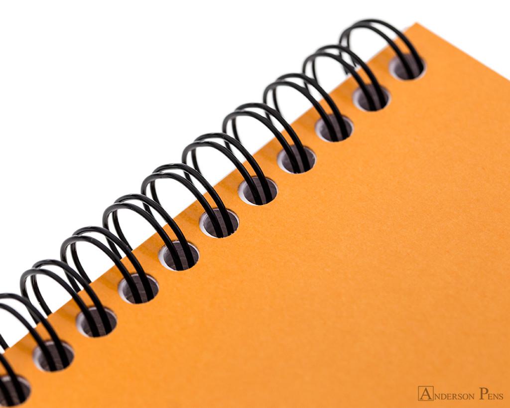 Rhodia No. 16 Wirebound Notepad - A5, Dot Grid - Orange wire detail