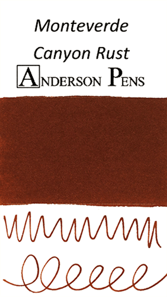 Monteverde Canyon Rust Ink Color Swab
