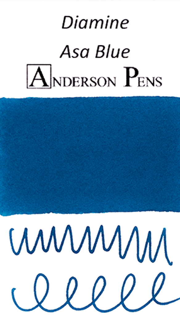 Diamine Asa Blue Ink Color Swab