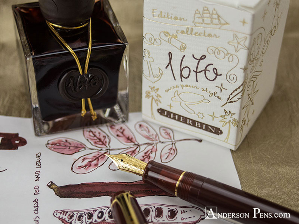 J. Herbin 1670 Anniversary Caroube de Chypre Ink ThINK Thursday final picture