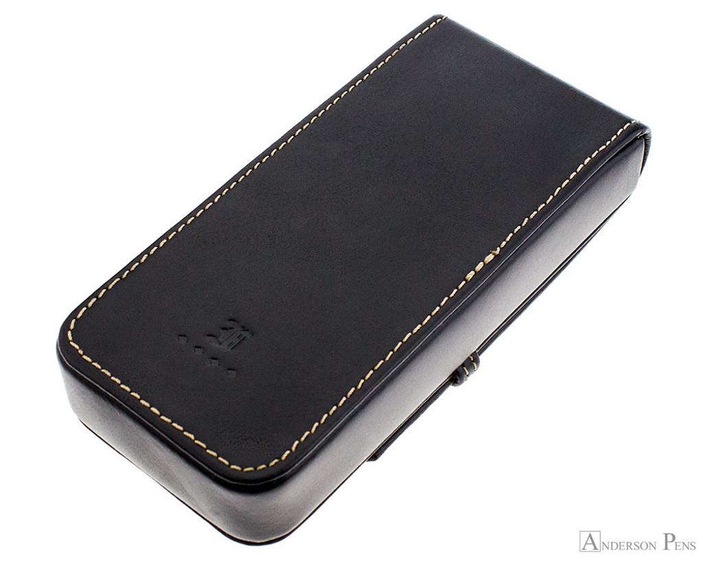 Franklin-Christoph Three Pen Case - Black - Back