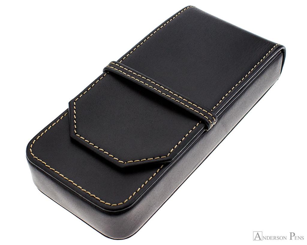 Franklin-Christoph Three Pen Case - Black