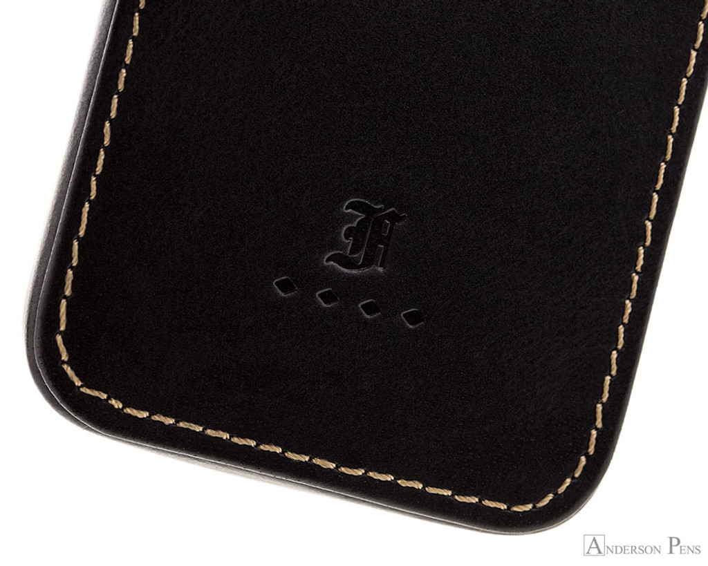 Franklin-Christoph Three Pen Case - Black - Logo