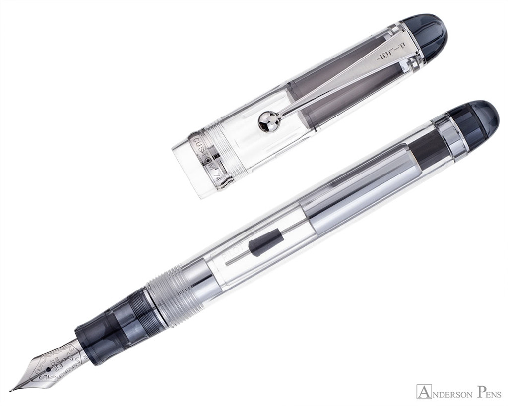 Pilot Custom 74 Fountain Pen - Clear - Open