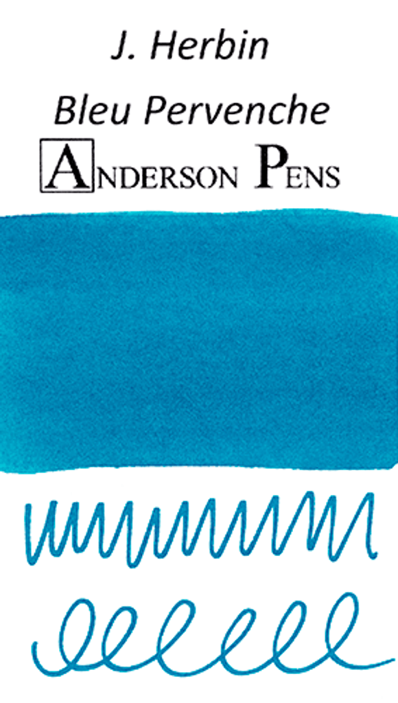J. Herbin Bleu Pervenche Ink Cartridges color swab