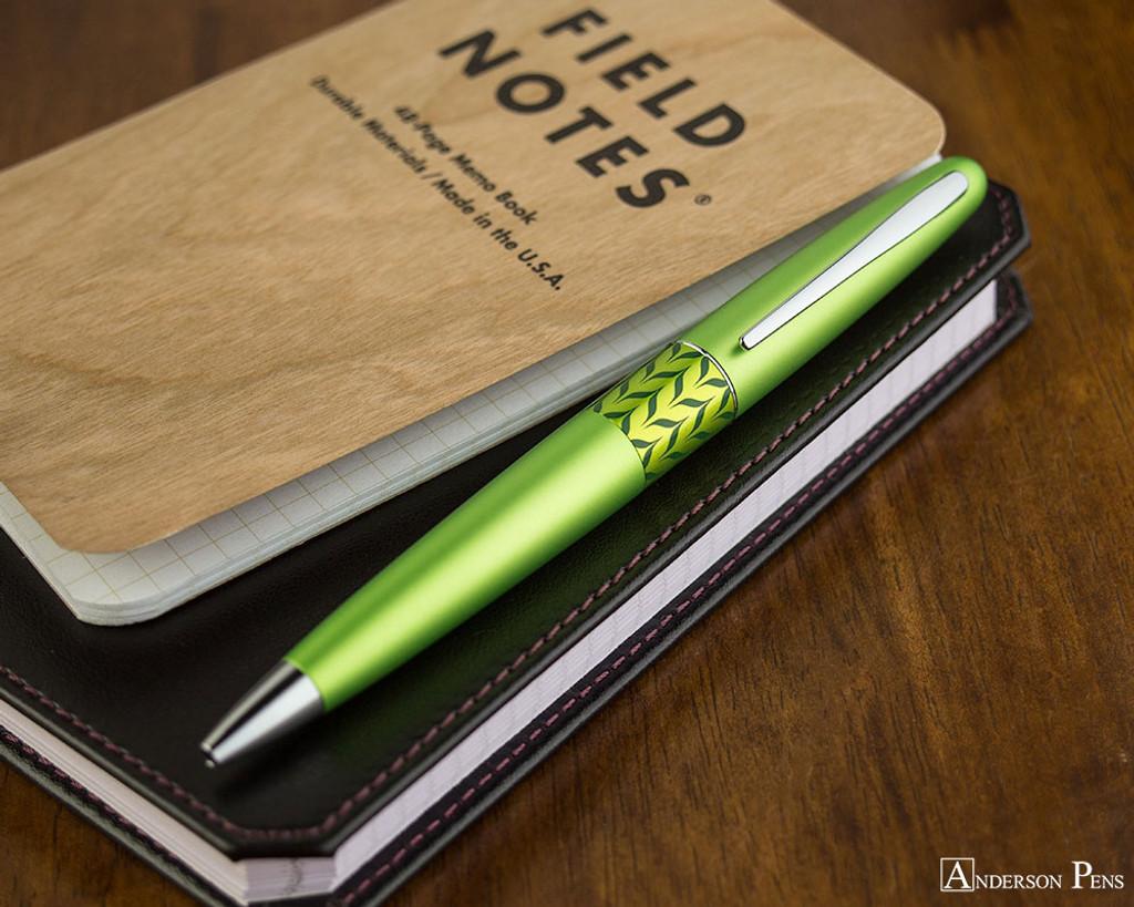 Pilot Metropolitan Ballpoint - Retro Pop Green - On Notebook