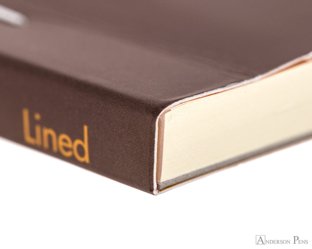 Rhodia No. 16 Premium Notepad - A5, Lined - Chocolate binding detail