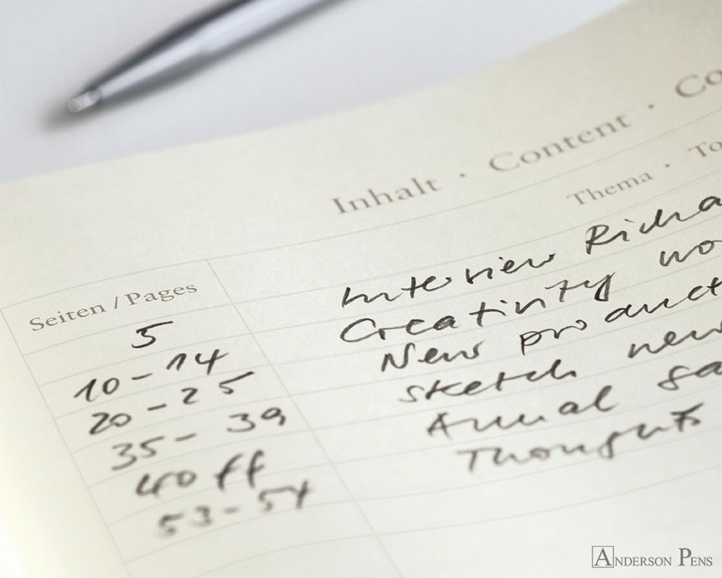 Leuchtturm1917 Notebook - A5, Dot Grid - Lemon contents page
