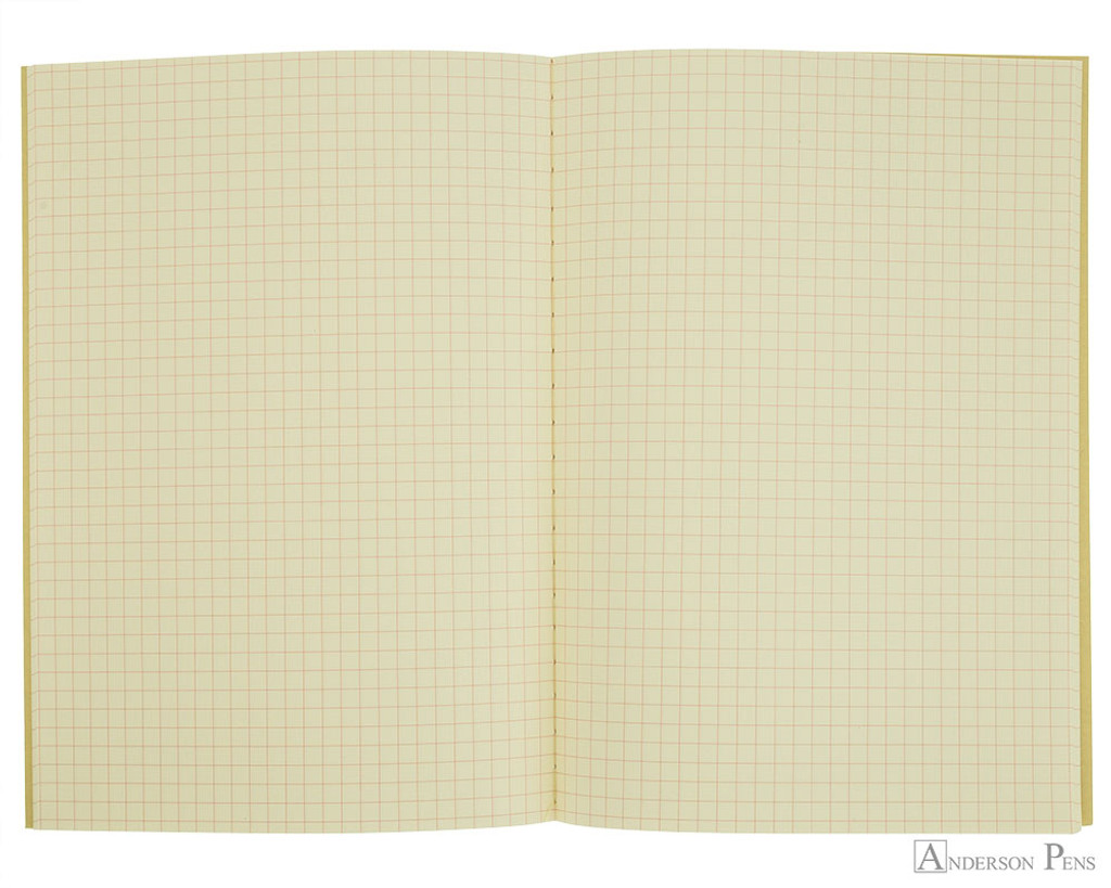 Life Vermilion Notebook - A5 (6 x 8), Graph Paper - Open