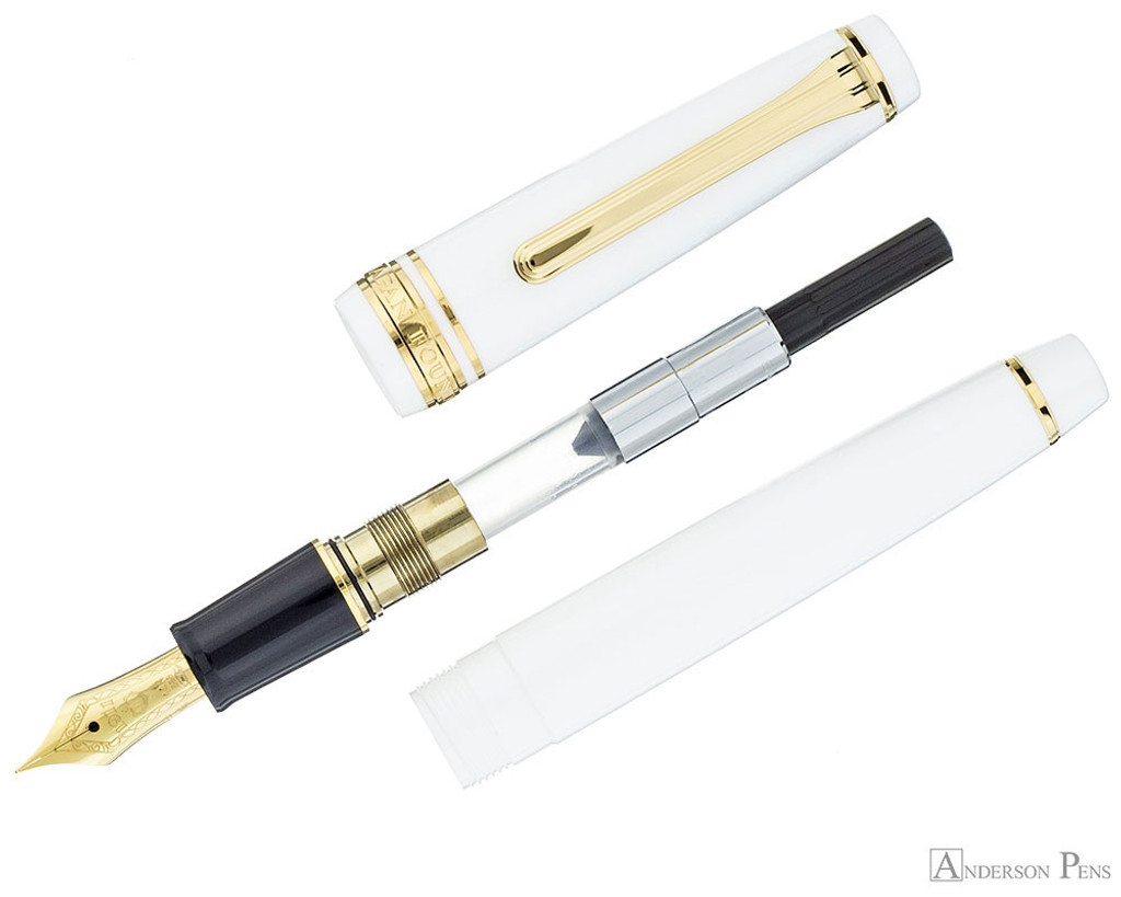 Sailor Pro Gear Slim Fountain Pen - White with Gold Trim - Parted Out