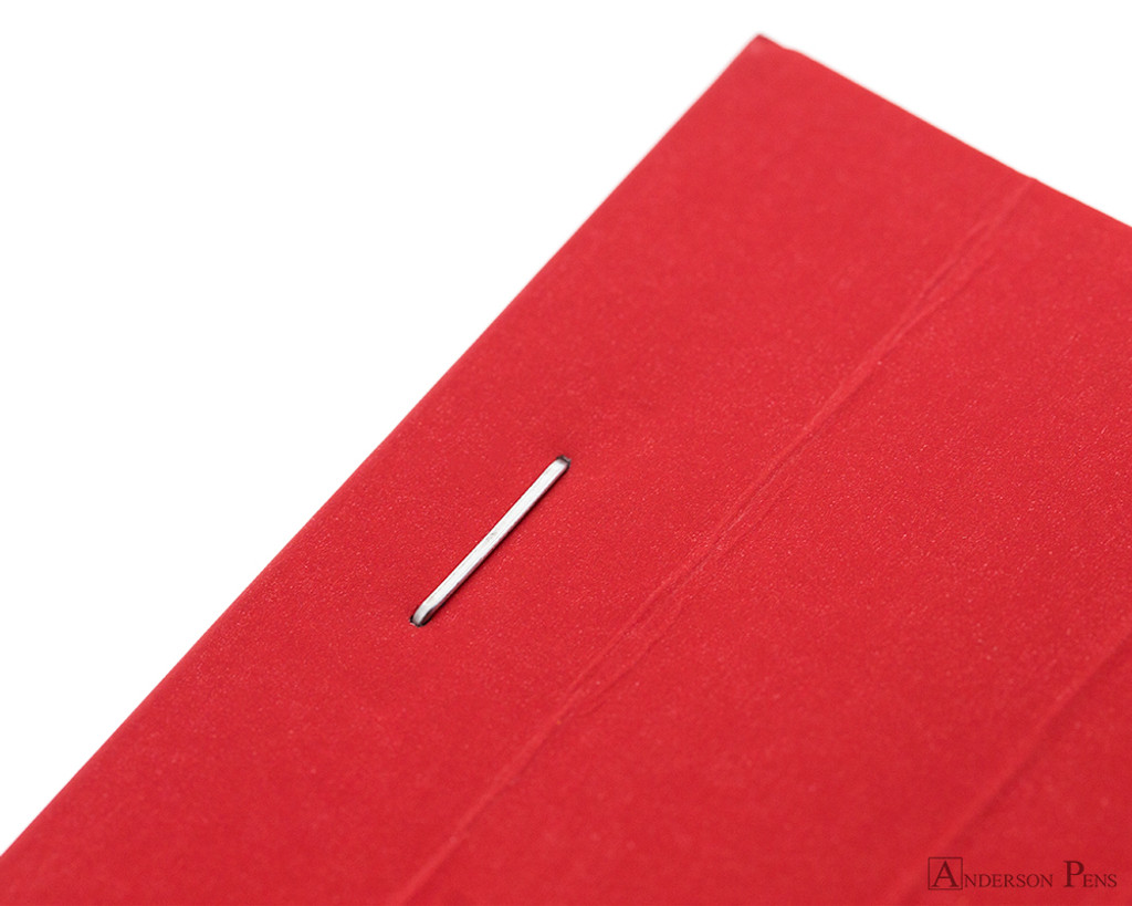 Rhodia No. 16 Premium Notepad - A5, Lined - Red staple detail
